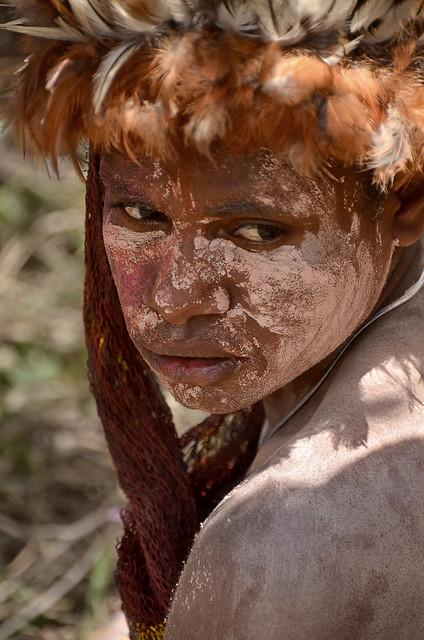 Dani girl portrait, Baliem valley, Papua