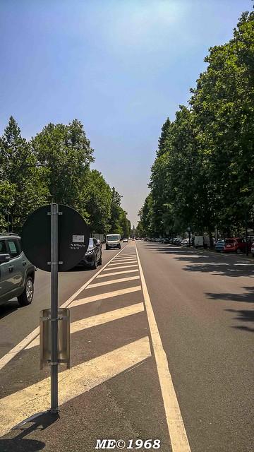 Milano - C.so Sempione Spartitraffico centrale vs Arco della Pace