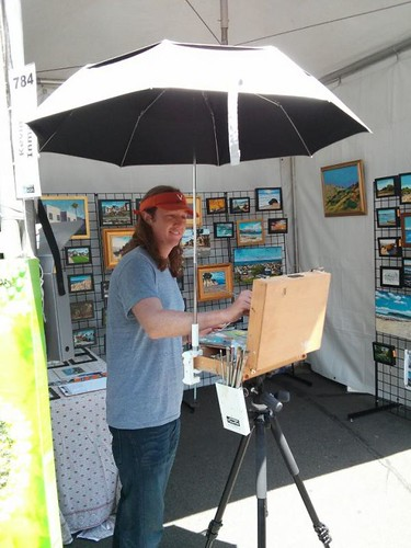 Painting at Mission Federal Art Walk