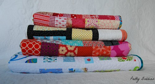 SS stack of quilts