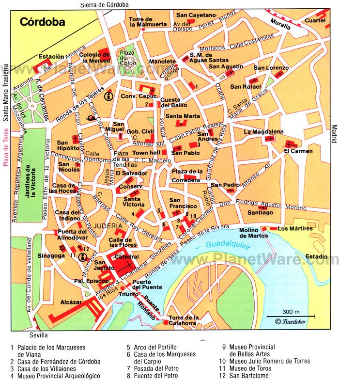 Plano do centro de Cordova