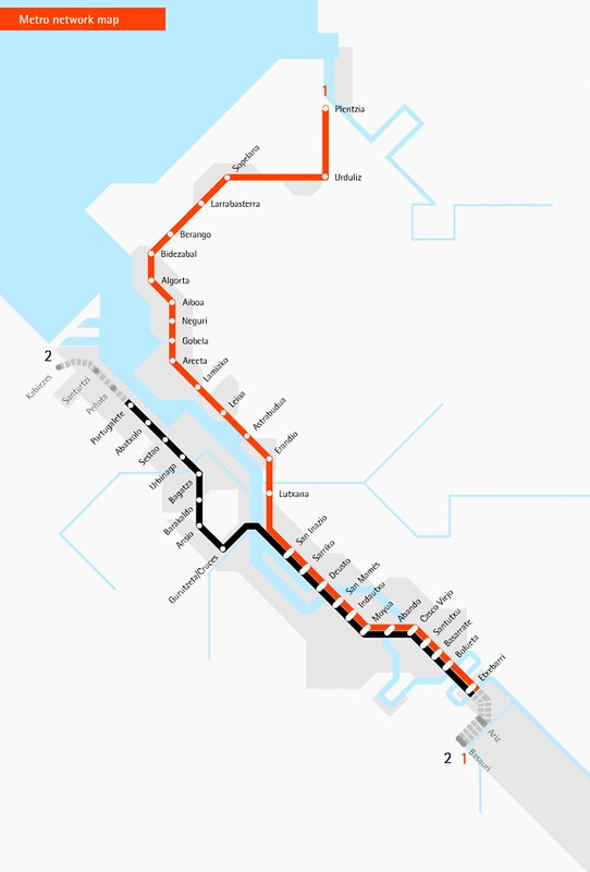 Mapa Metro Bilbau