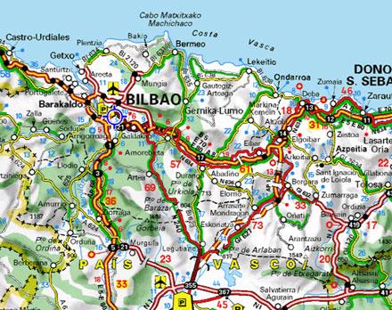 espanha mapa estradas Mapas de Bilbau, Espanha espanha mapa estradas