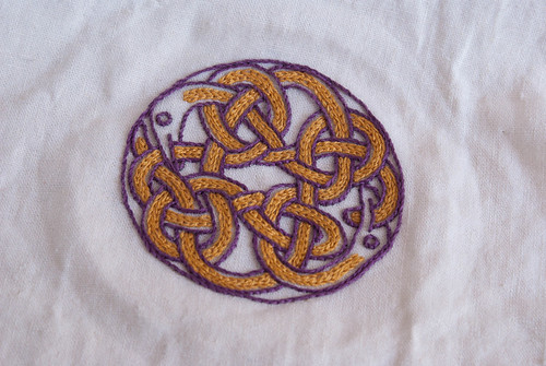 Celtic knotwork cup cover