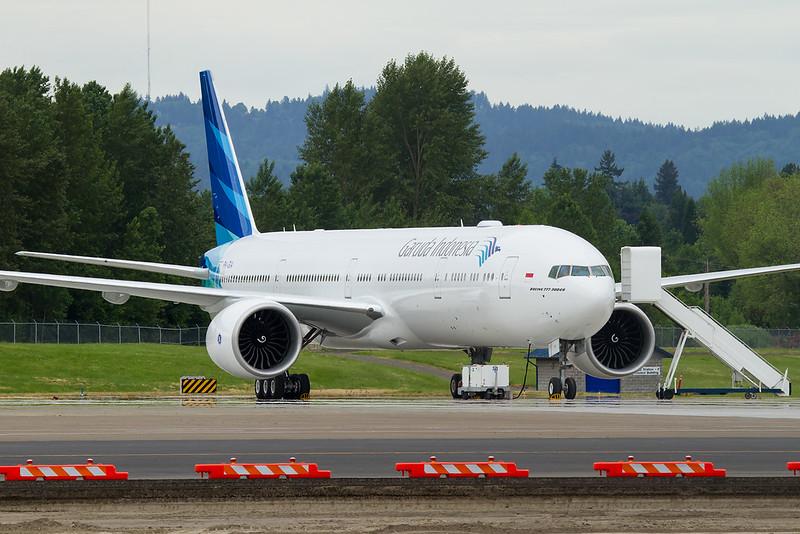 Garuda's first 777, PK-GIA