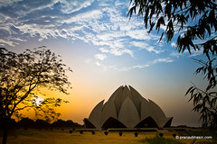 Sunset At Lotus Temple, Kalkaji, Delhi