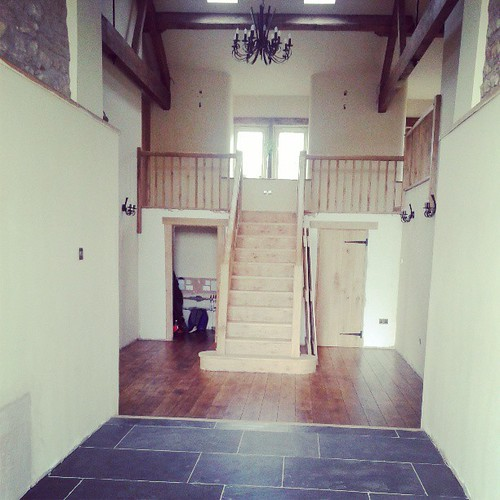 My flash friends beautiful barn conversion. Her entrance hall is bigger than my whole house!