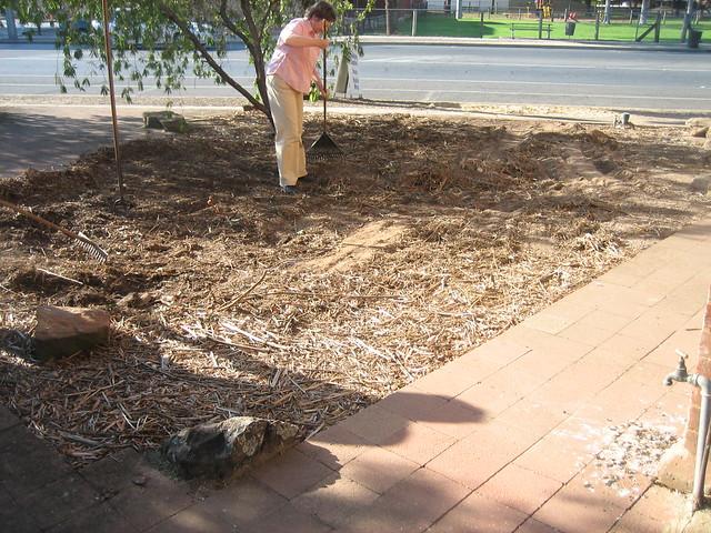 preparing ground to install turf grass