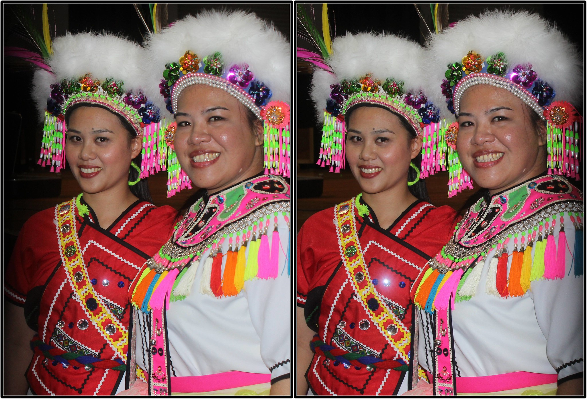 with Asian aborigines girl