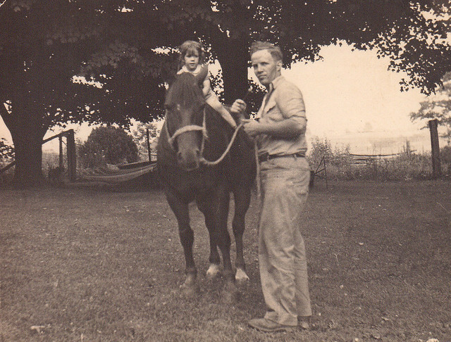 1946 - Mom and Granddaddy