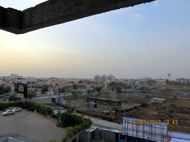 View from 2 BHK Sample Flat at Le Reve, 2 BHK & 3.5 BHK Flats in 22 Story 2 Towers, adjoining Radisson Hotel, Kharadi Hadapsar Bypass, Kharadi, Pune 411 014