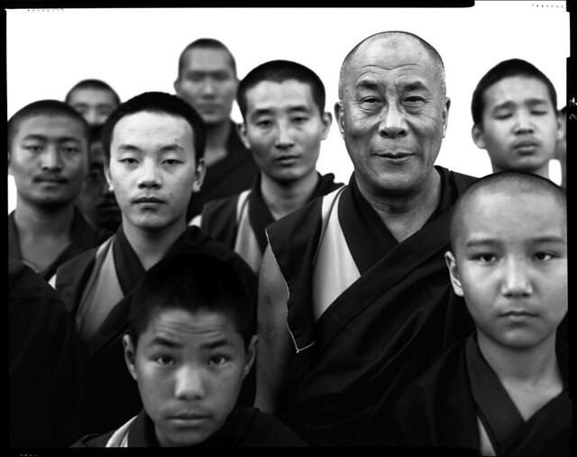 Dalai Lama with Young Monks