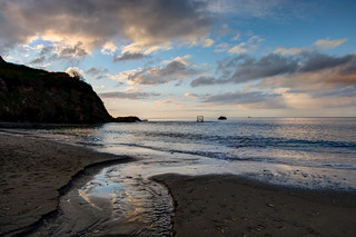 Millendreath Beach Looe early morning