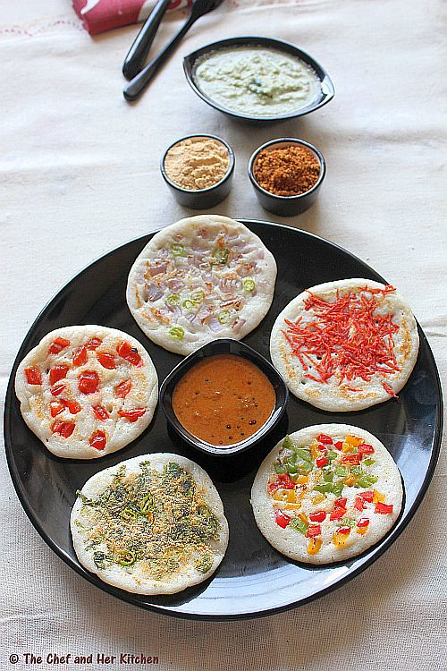 uthappam toppings