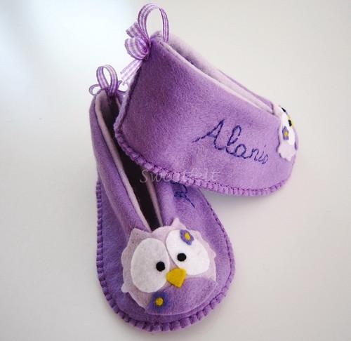 ♥♥♥ Pantufinhas para a Alanis... by sweetfelt \ ideias em feltro