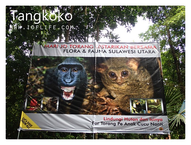 sign board hutan tangkoko