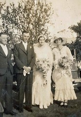 Shannon Methodist Church 1935 - The bride and groom and their attendants.