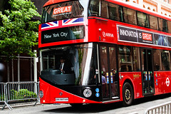 London bus promotes Britain in New York