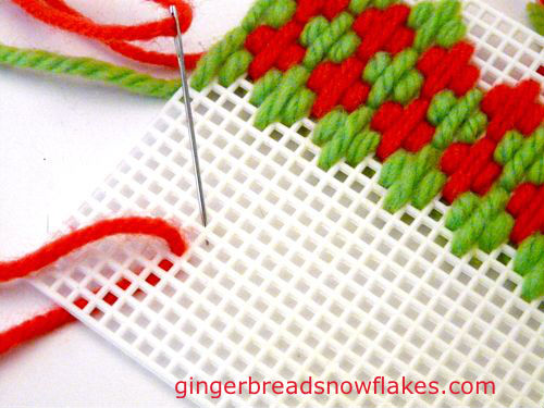 Plastic Canvas: Hungarian Stitch