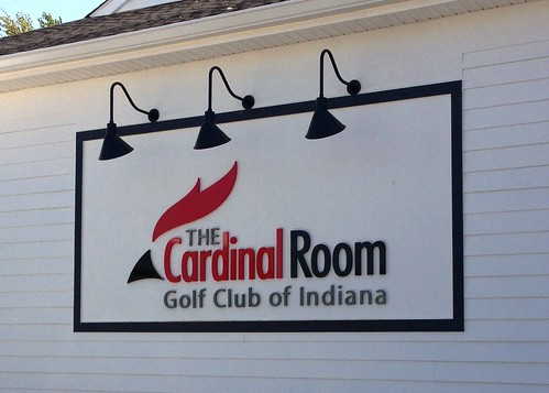 The Cardinal Room Golf Club of Indiana Wall Mounted Sign by Redirections Sign & Design