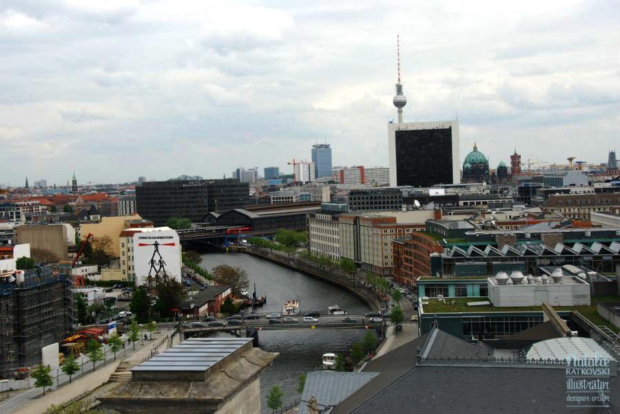 Aussicht von der Reichstagskuppel