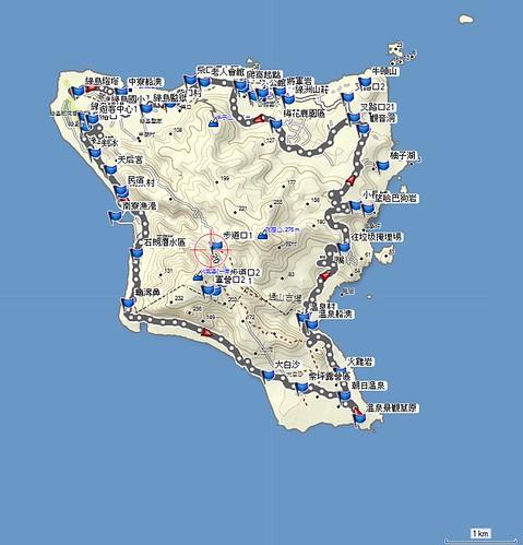 2012-10-13 綠島機車map