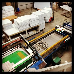 Busy day in the print shop! #screenprinting #signs #signshop @redirections