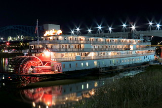 The Delta Queen at Night - Chattanooga