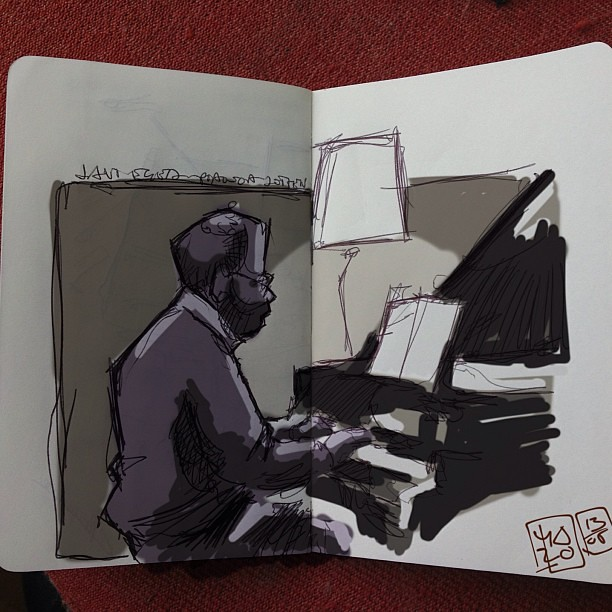 Piano concert sketch+ipad