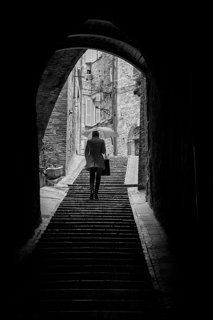 The Umbrella Woman - Perugia, Italy
