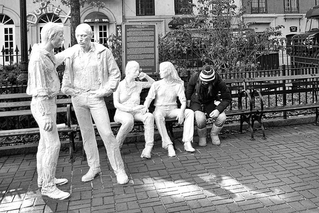 Manhattan #5 (Greenwich Village - Gay Liberation monument by George Segal)