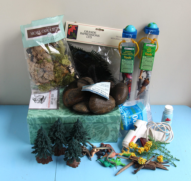 Jungle Diorama - supplies