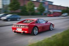 ferrari testarossa(0.0), race car(1.0), automobile(1.0), wheel(1.0), vehicle(1.0), performance car(1.0), automotive design(1.0), ferrari 348(1.0), ferrari s.p.a.(1.0), land vehicle(1.0), luxury vehicle(1.0), supercar(1.0), sports car(1.0),