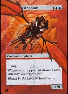 Consecrated Sphinx Magic Card Altered Art