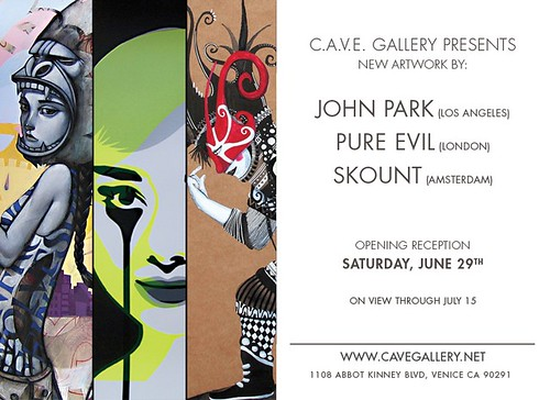 C.A.V.E. Gallery Features Park, Skount and Pure Evil