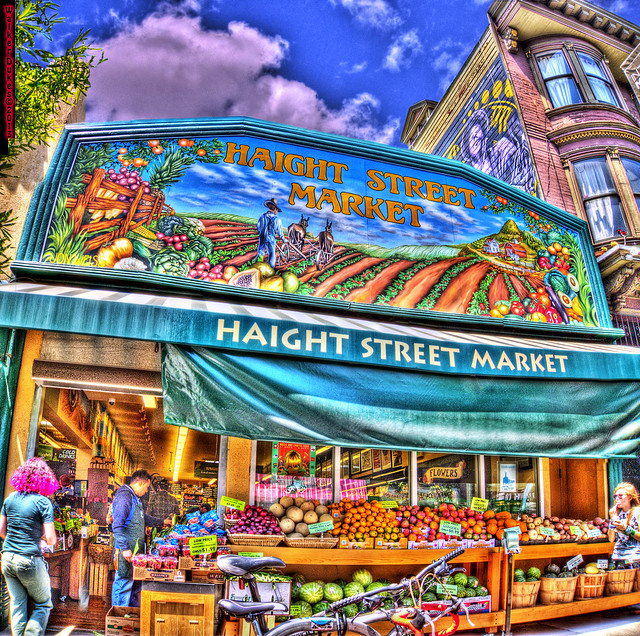 Haight Street Market, HDR Panorama