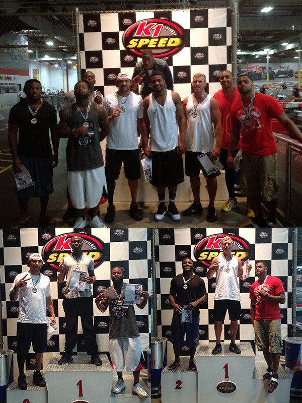 9268245829 4fccc4272d b New York Jets quarterback Mark Sanchez and teammates at K1 Speed!