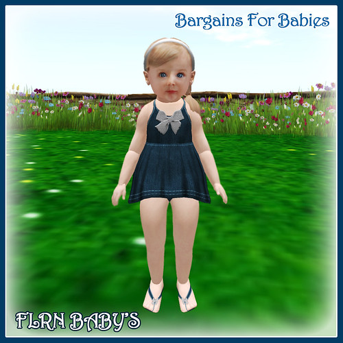 Denim Ribbon Dress - 75L for this week by ~ ✫ FLRN BABY'S & FLRN DESIGN ✫ ~
