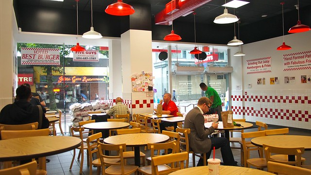 Five Guys Burgers and Fries | Robson Street, Vancouver