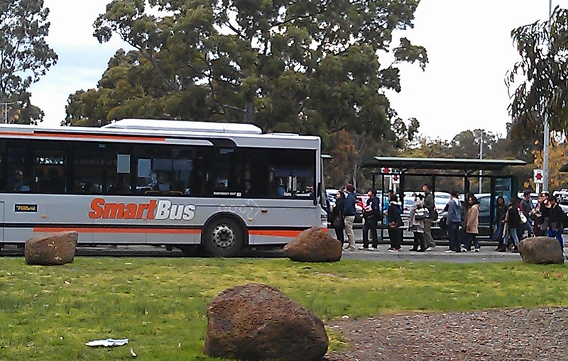 Monash Open Day 2012: Long queues for the bus to Huntingdale