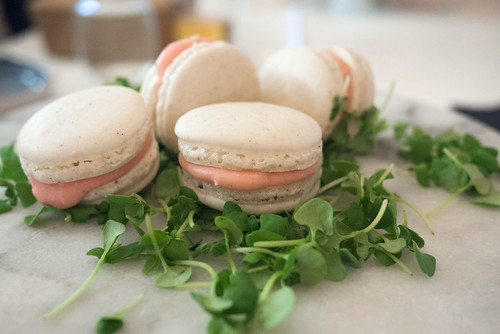 Strawberry-Basil-Black Pepper Macarons @ Market
