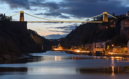 bridge bristol traffic suspension dusk clifton brunel cumberlandbasin