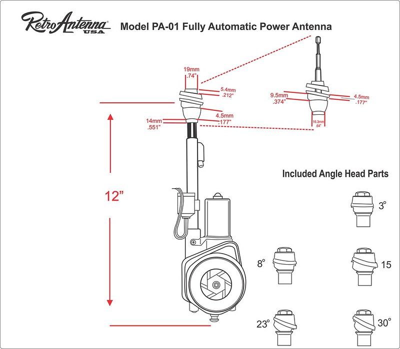 PA-01 POWER ANTENNA