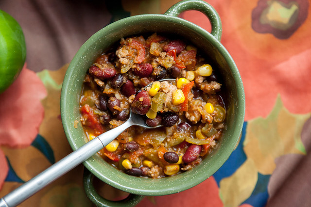 Serve your family a hearty, comforting bowl of Mexican Pumpkin Chili. It's filled with vegetables and Mexican spices such as green chiles, salsa verde and cumin! You can freeze any leftovers (but I doubt any leftovers will be left!).