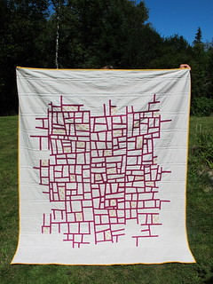 Reverse-Value Mod Mosaic Quilt