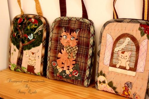 Handmade zakka style traveling pouch