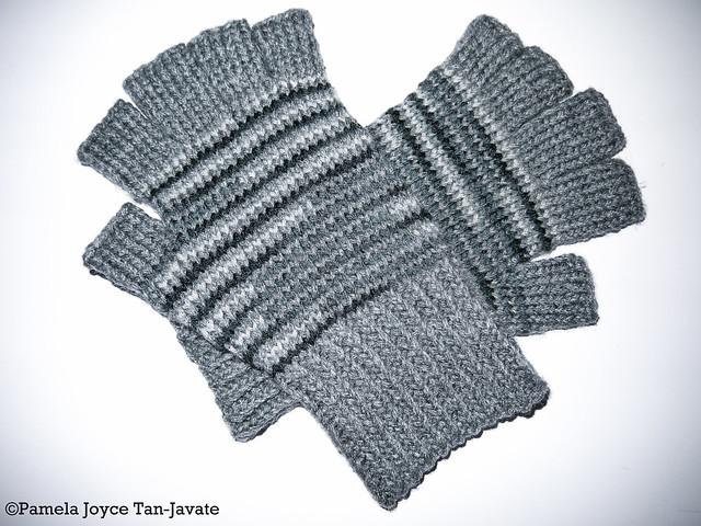 Knitting Mittens With Magic Loop : Pamela joyce knitted fingerless gloves magic loop method