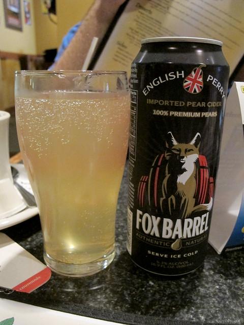 Fox Barrel imported English pear cider