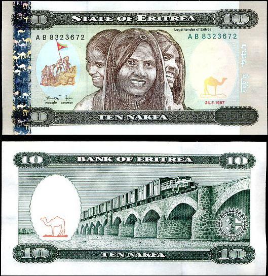 10 Nakfa Eritrea 1997, Pick 3