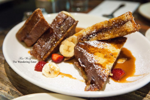 Nutella French Toast with bourbon glazed bananas